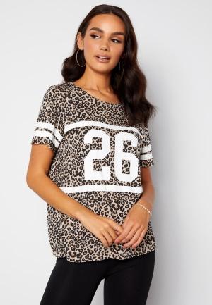 Happy Holly Ellen tee White / Leopard / Black 36/38