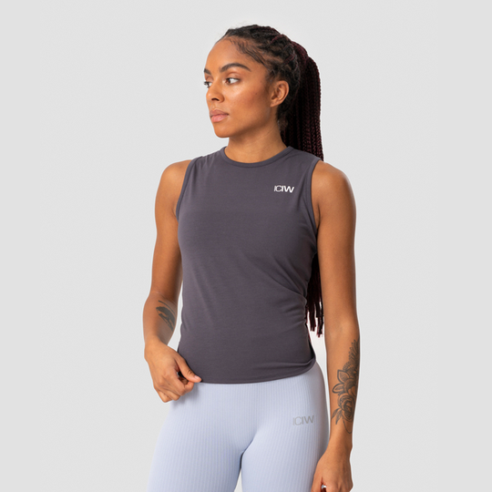Empowering Open Back Tank, Anthracite