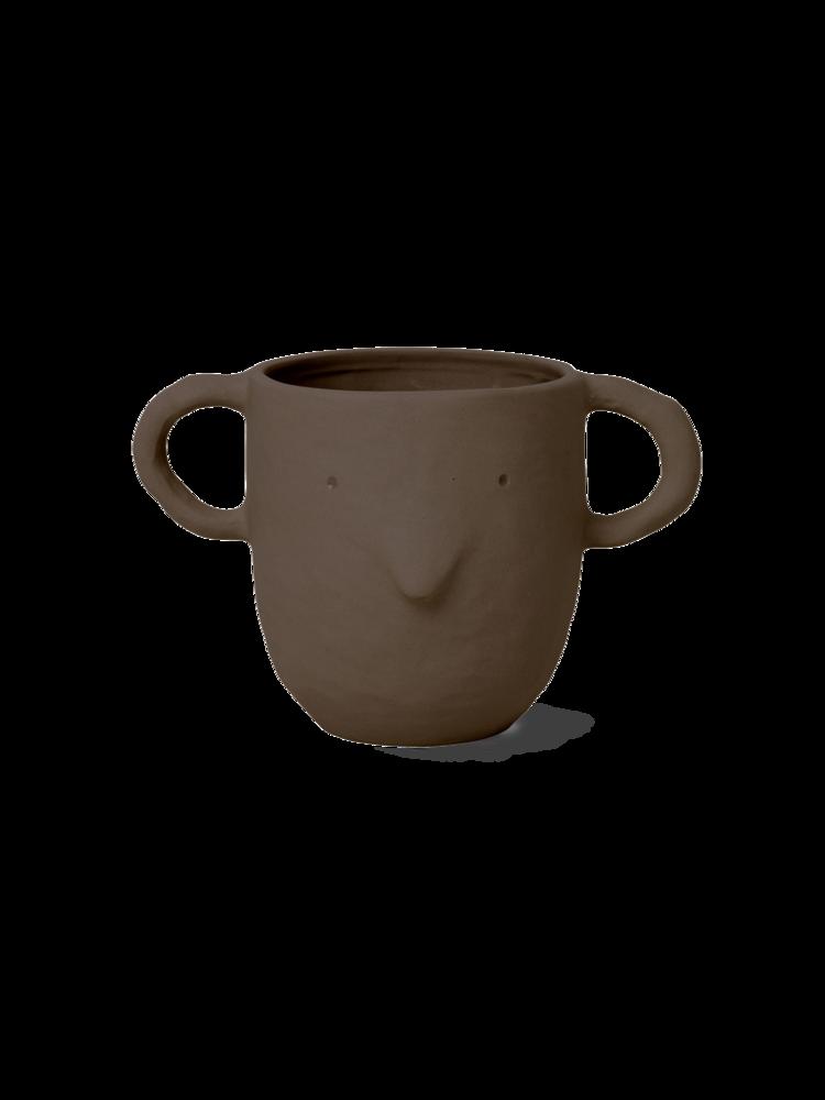 Ferm Living - Mus Plant Pot Large - Red Brown (100100306)