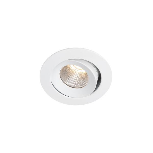 Hide-a-Lite Optic XS Downlight-valaisin kallistus, valkoinen, tune