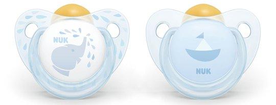 NUK Baby Blue 0-6 Måneder Smokk 2-pack, Lateks