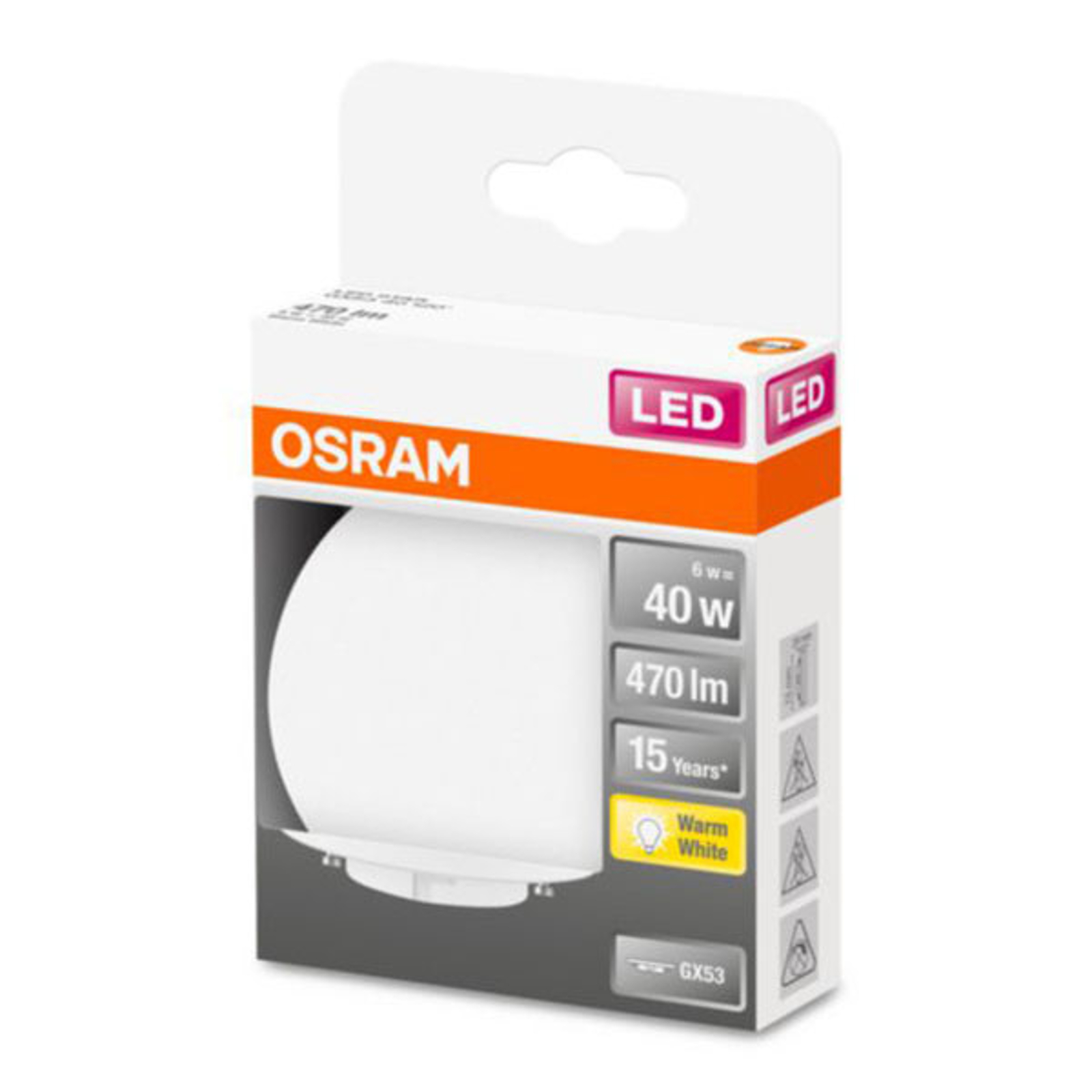 OSRAM Star Special -LED-lamppu GX53 6W 2 700 K