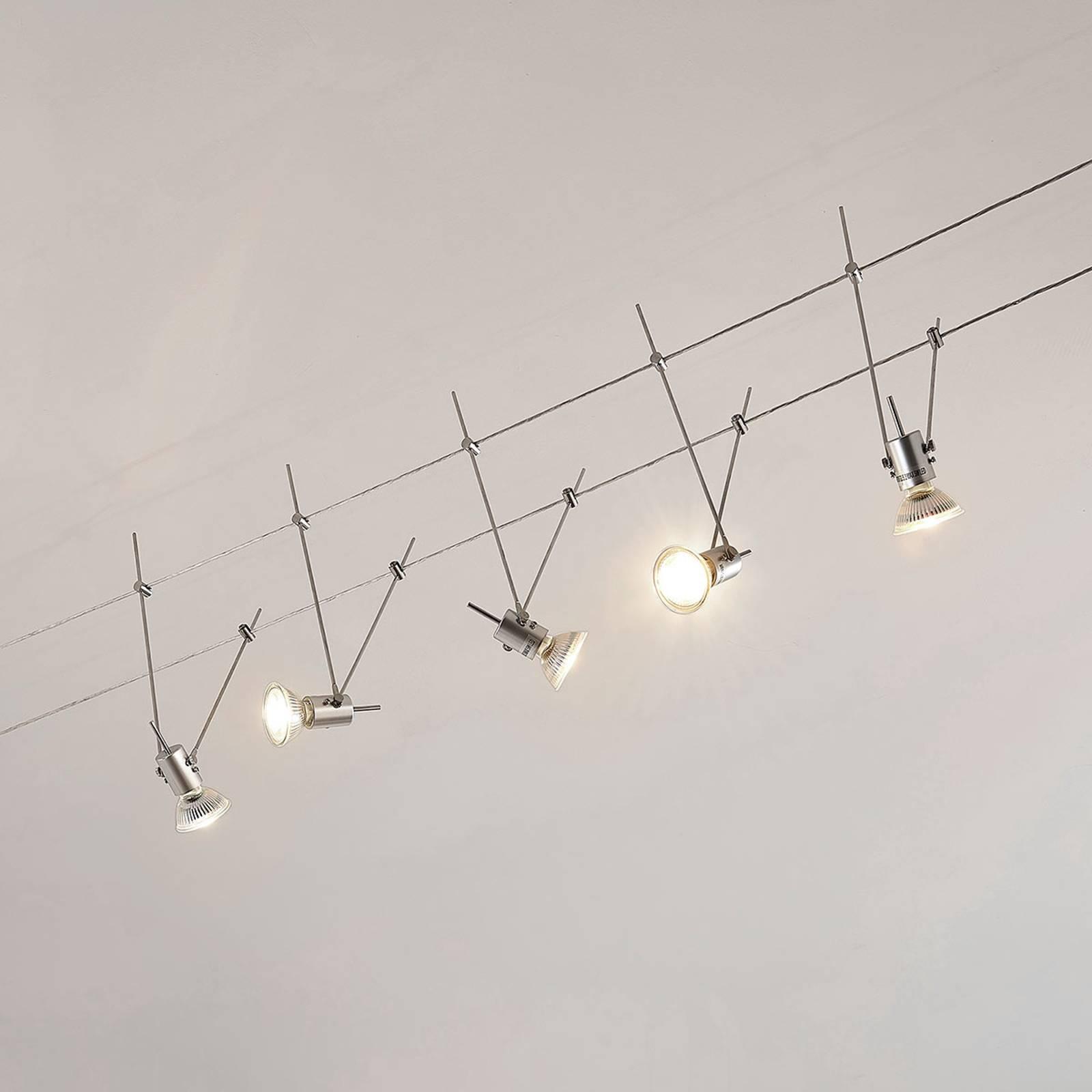 LED-vaijerijärjestelmä Marno, 5-lamppuinen