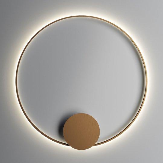 Fabbian Olympic -LED-seinävalo, Ø 110 cm, pronssi