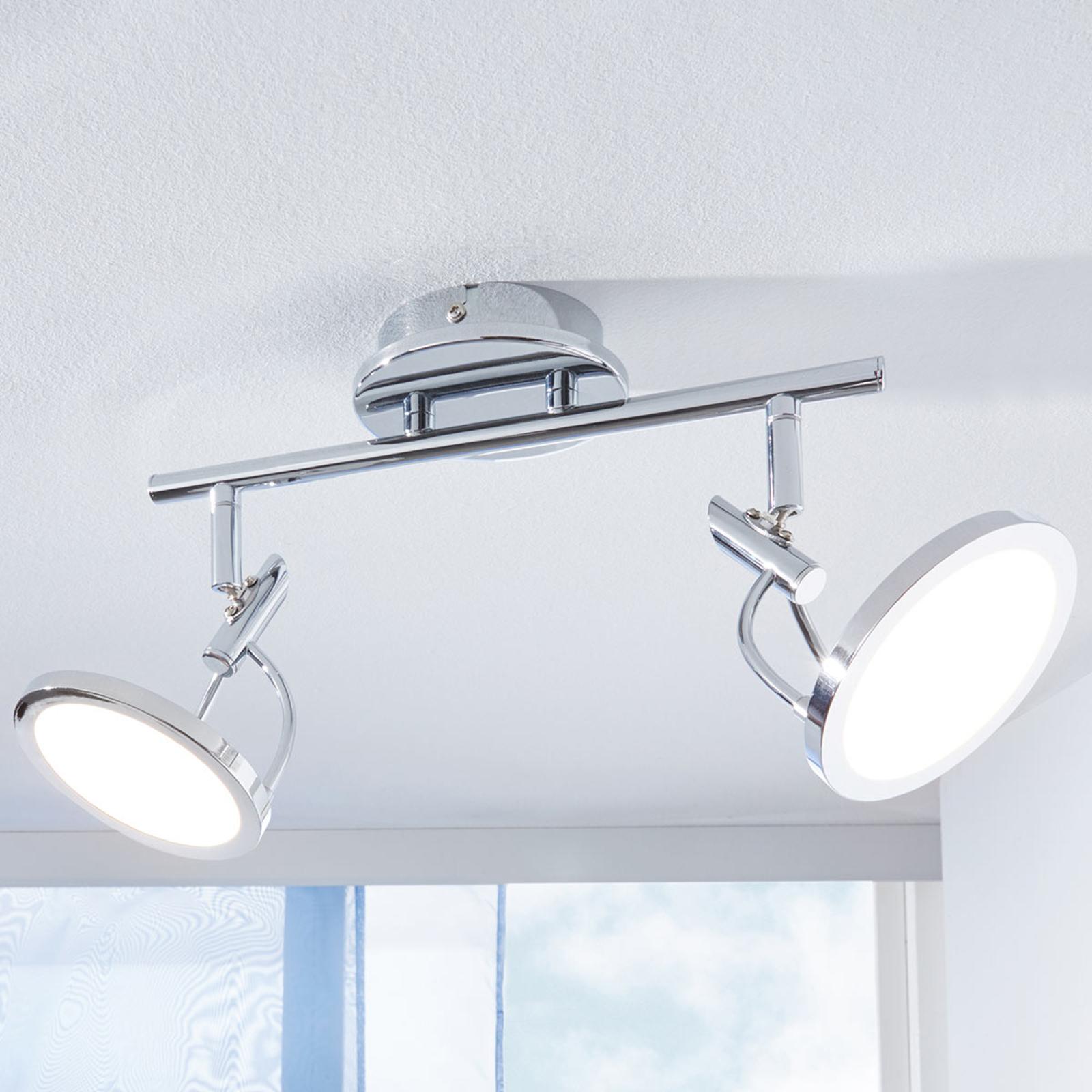 LED- kattokohdevalo Jorne, kromattu, 2-lamppuinen