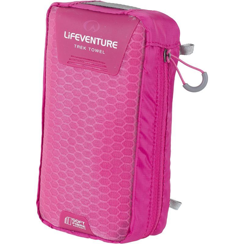 Lifeventure Soft Fibre Trek Towel L Kompakt turhåndkle, Rosa