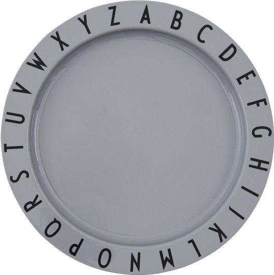 Design Letters Eat & Learn Tallerken, Grey