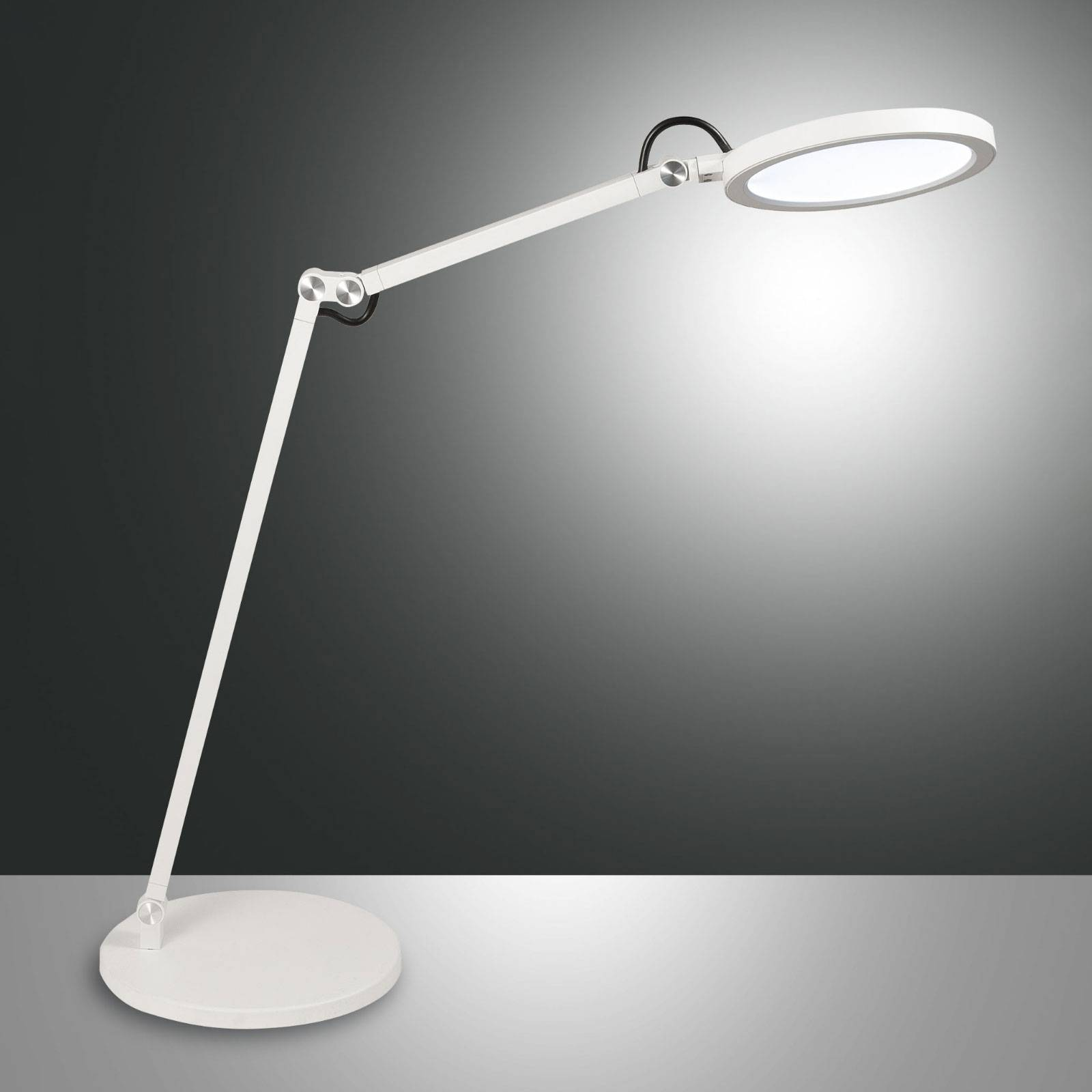 LED-työpöytälamppu Regina himmentimellä, valkoinen