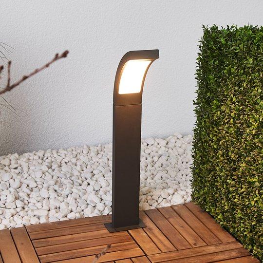 Grafiitinharmaa LED-pylväsvalaisin Juvia alumiinia