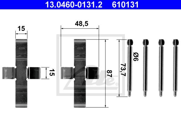 Tarvikesarja, jarrupala ATE 13.0460-0131.2