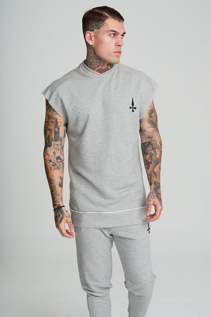 Men's Cut Off Training Sweatshirt - Grey, Small