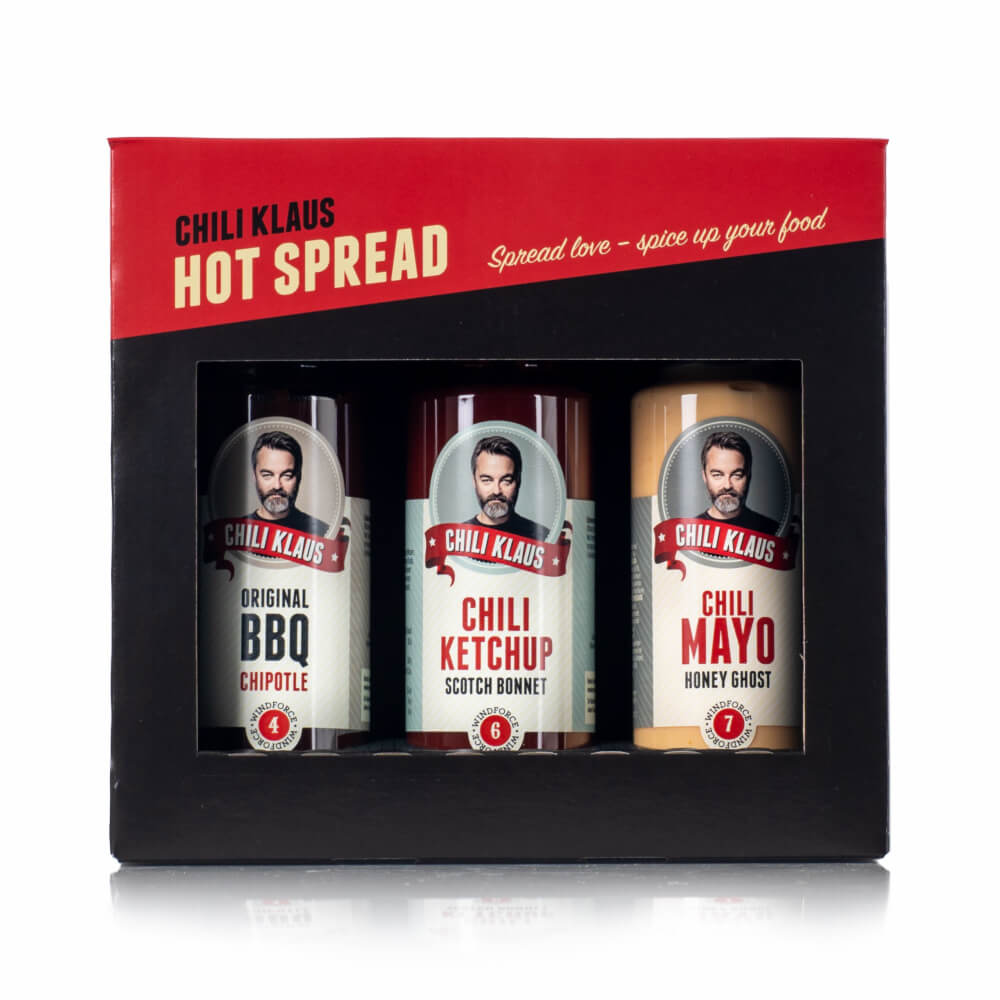 Chili Klaus Hot Spread 3-pack