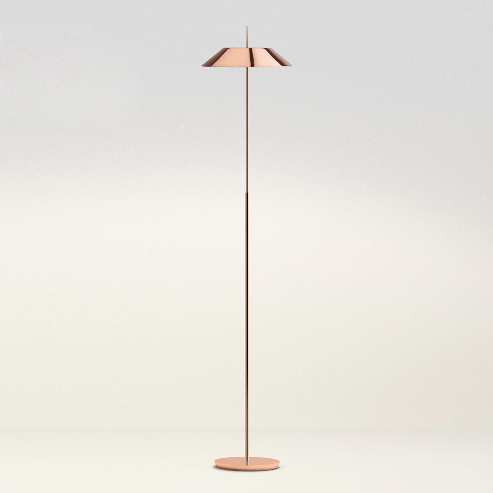 Mayfair edel kobberfarget LED-gulvlampe