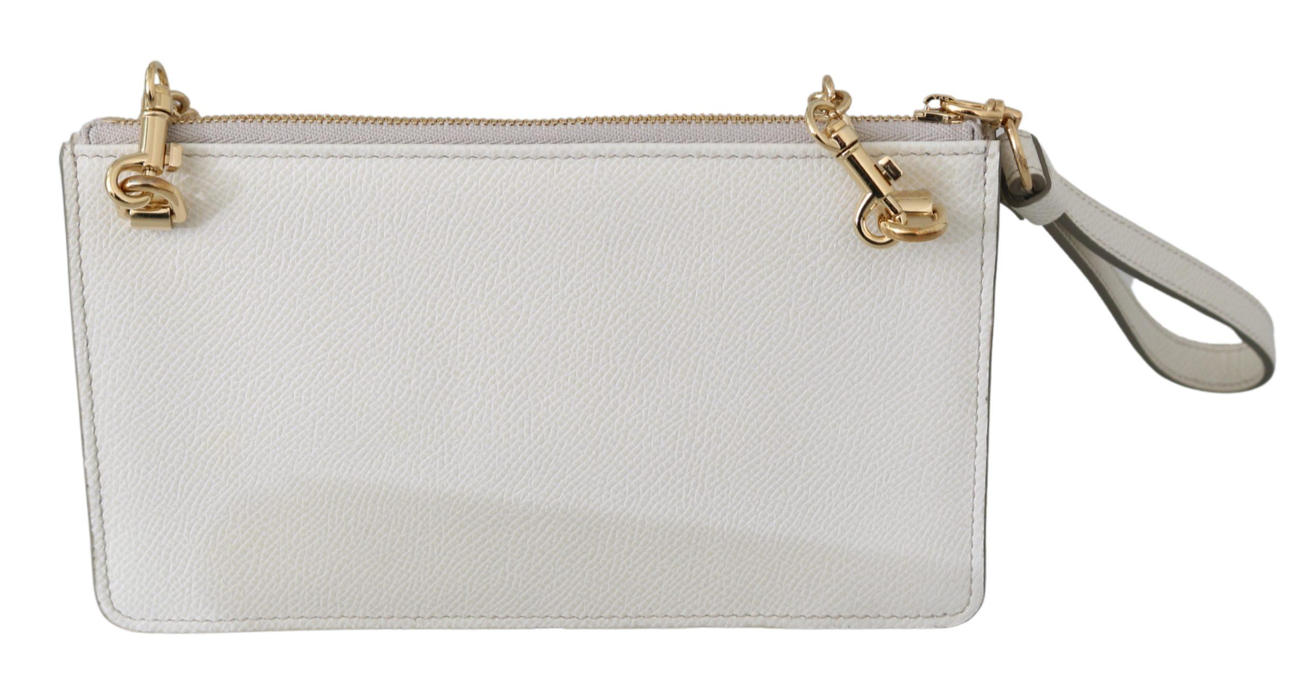 Dolce & Gabbana Women's Padlock Sicily Shoulder Bag White 8059226247661