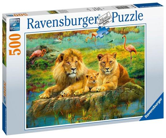Ravensburger Puslespill Løve på Savannen 500 Brikker