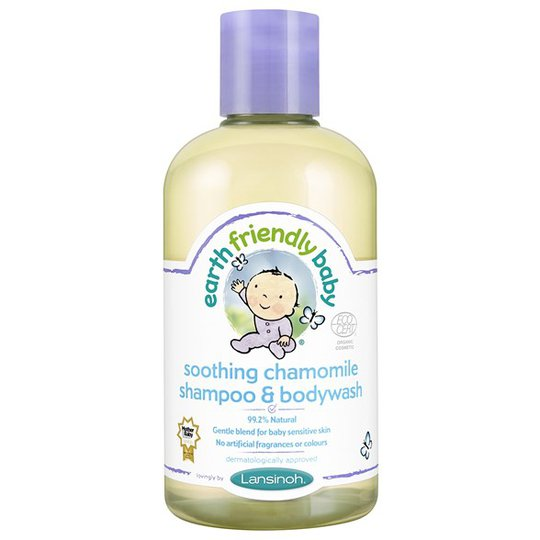 Earth Friendly Baby Soothing Chamomile Shampoo & Bodywash, 250 ml