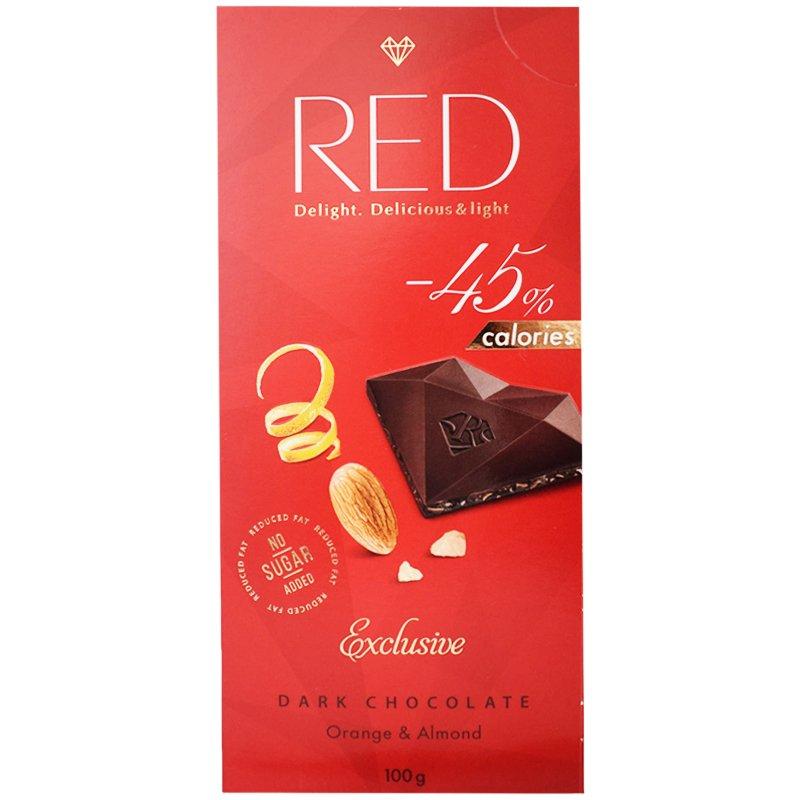 "Mörk Choklad ""Orange & Almond"" 100g - 60% rabatt"