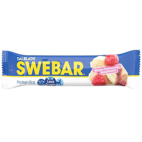 """Proteinbar """"White Chocolate & Raspberry"""" 50g - 44% rabatt"""