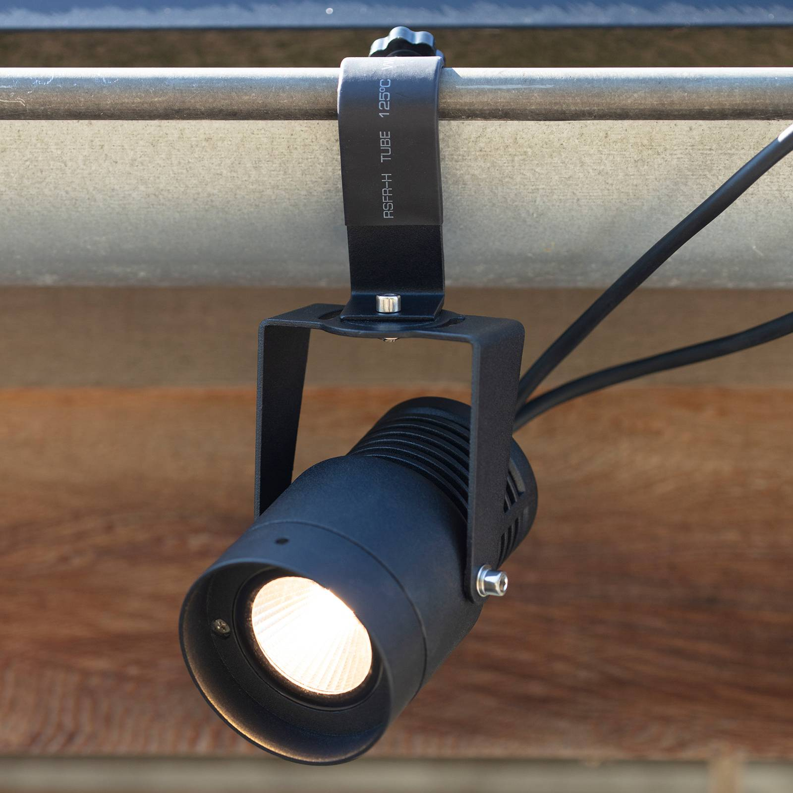 Garden 24 -LED-kohdevalo, musta, 9 W
