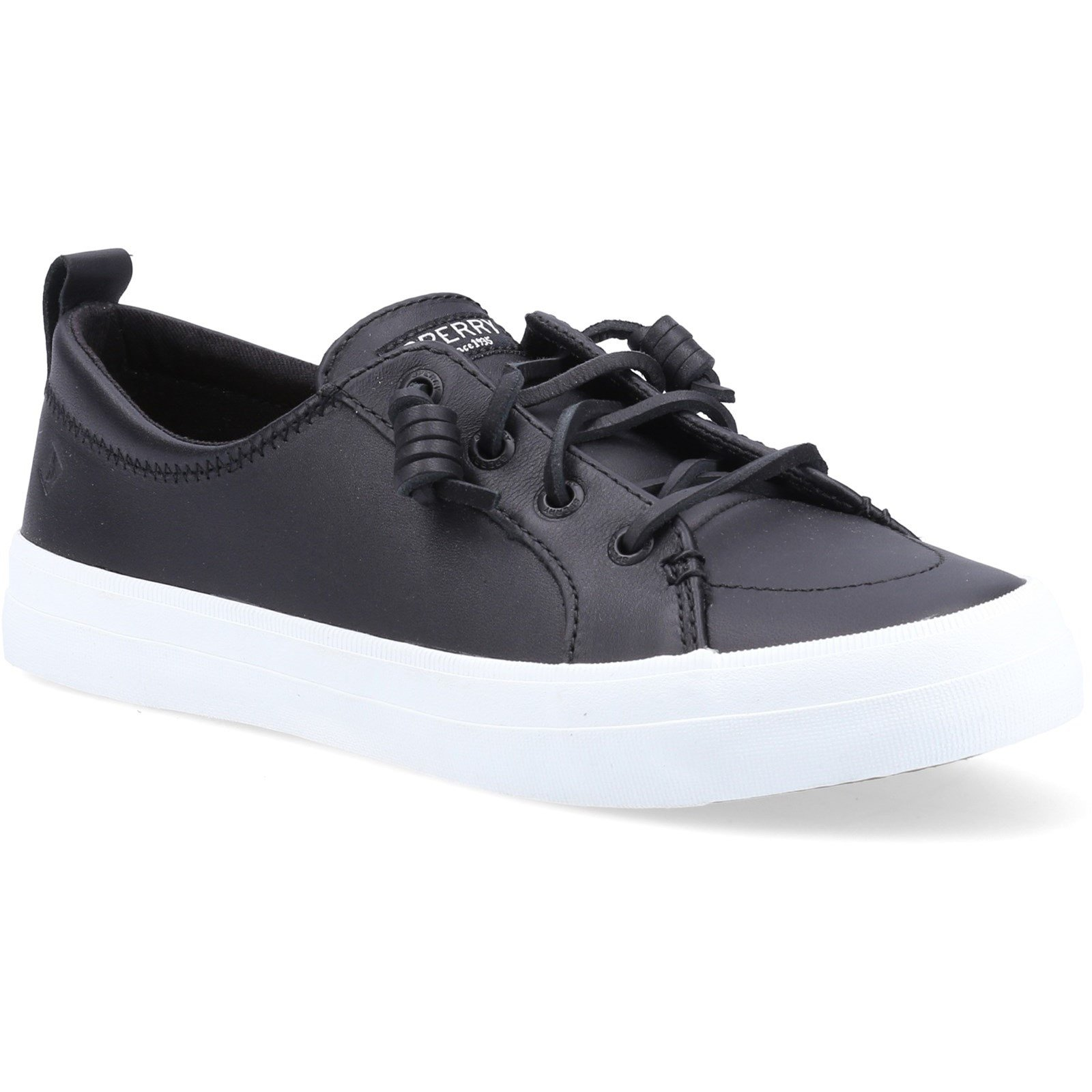 Sperry Women's Crest Vibe Leather Trainers Black 32404 - Black 7