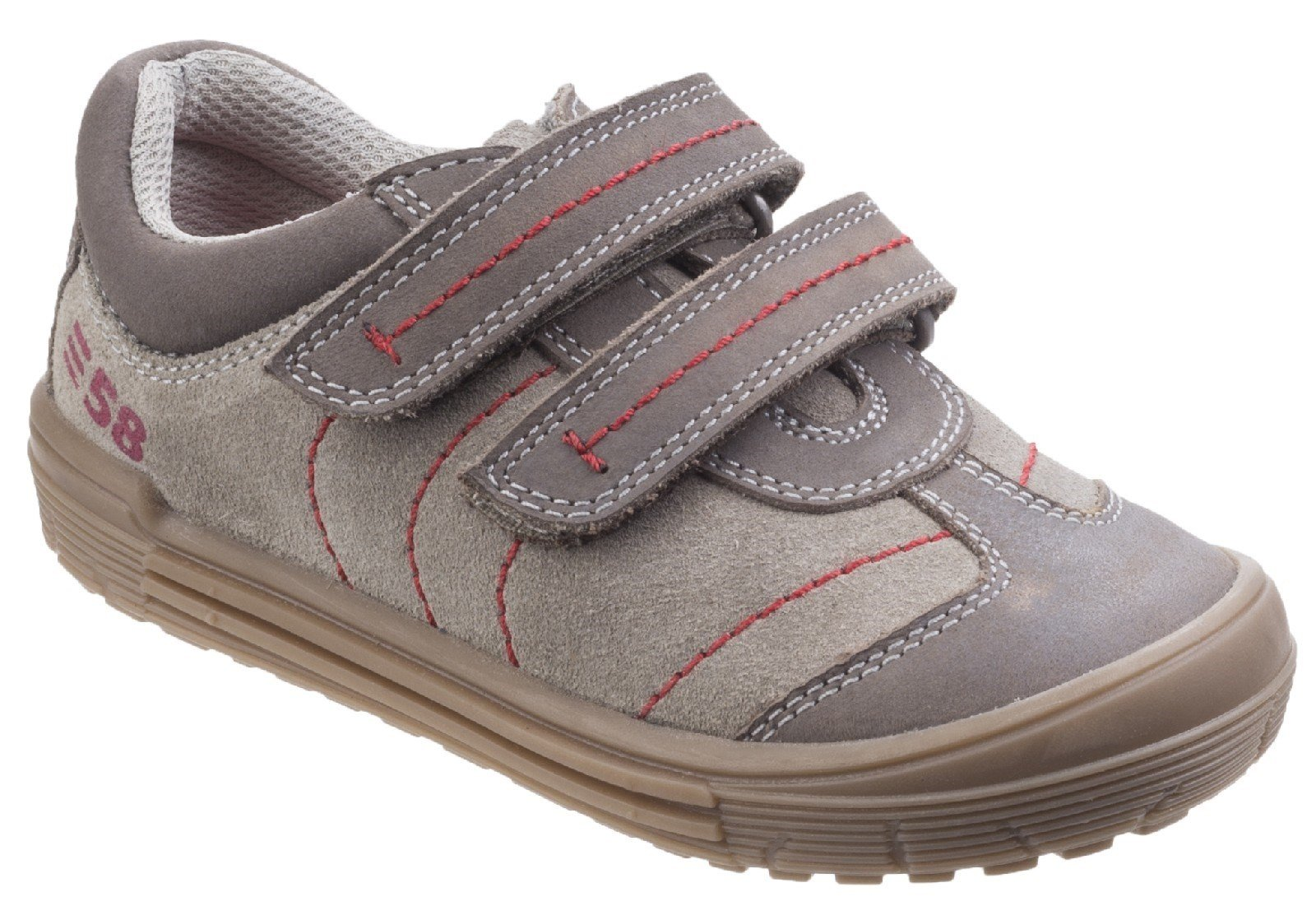Hush Puppies Men's Finn Touch Fastening Trainer Shoe Taupe 26390 - Taupe 3