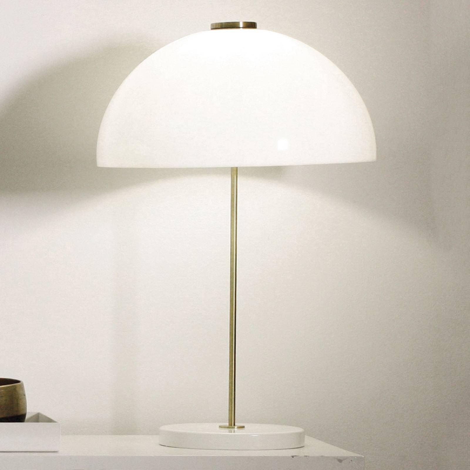 Innolux Kupoli bordlampe, hvit fot
