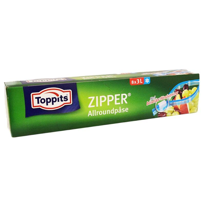 Pakastepussit Zipper 8 kpl - 17% alennus