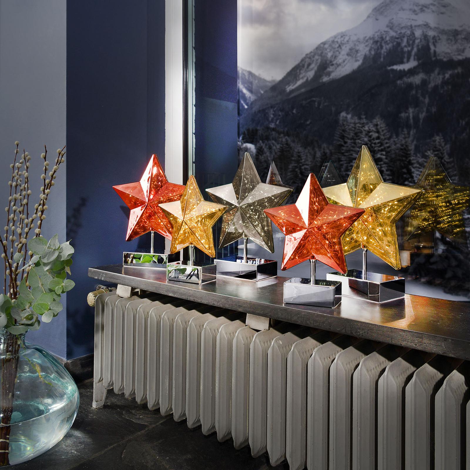 Pöytälamppu Stella tähtimuodossa, 27 cm, kulta