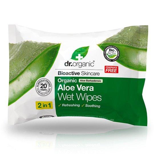 Dr. Organic Aloe Vera Wet Wipes, 20 st