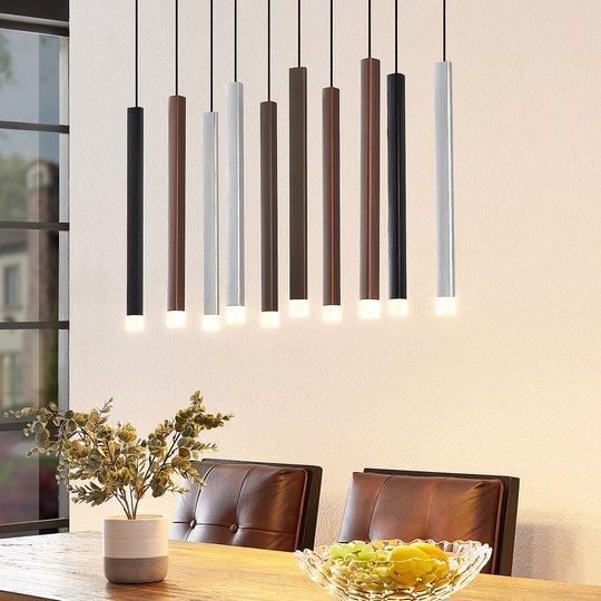 Lucande Stoika -LED-riippuvalaisin, 10-lamppuinen