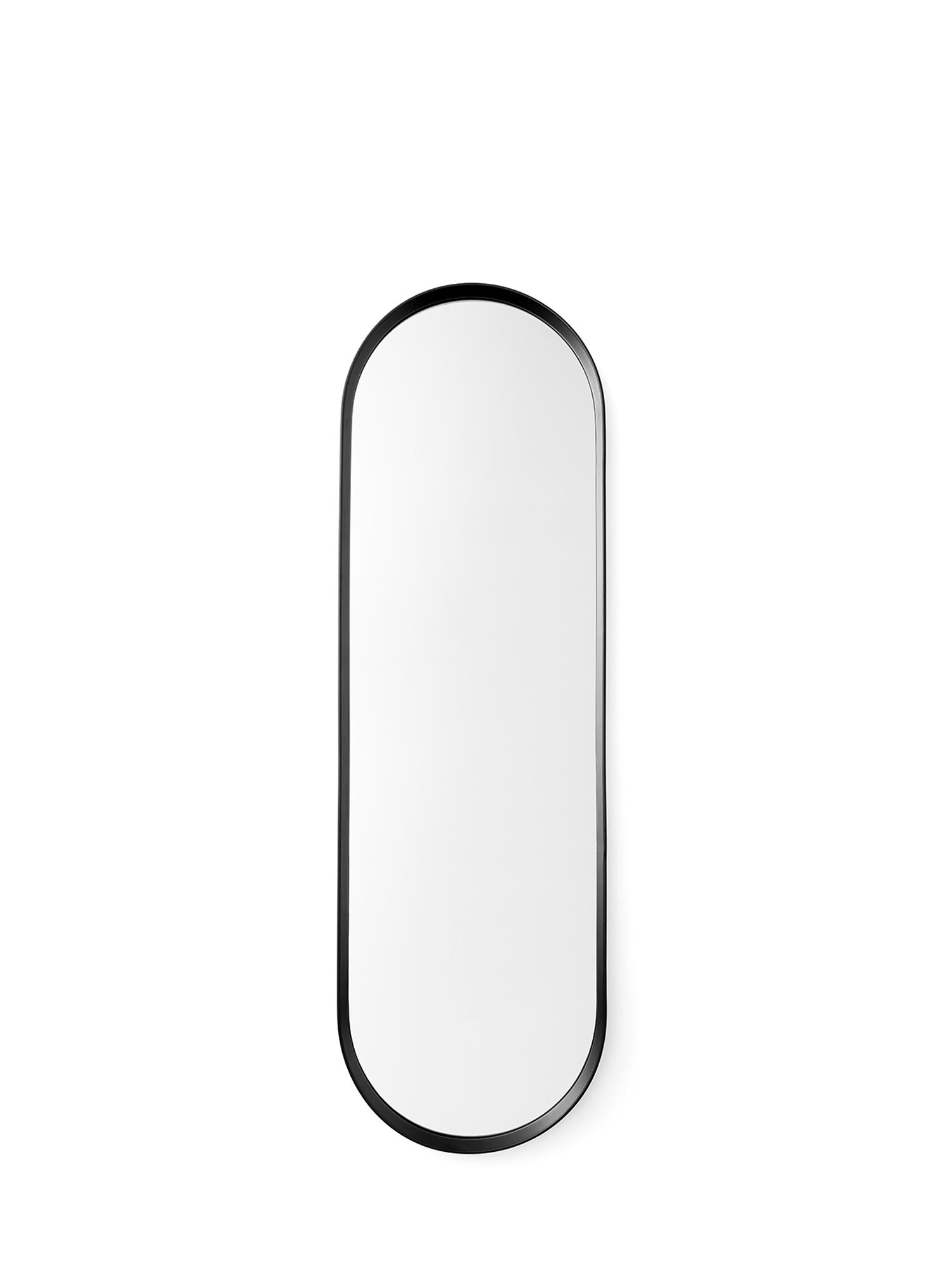 Menu Väggspegel Norm oval 40x130cm svart