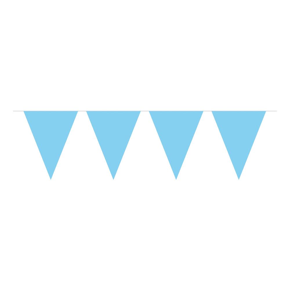 Flaggirlang Ljusblå Stor - 10 meter