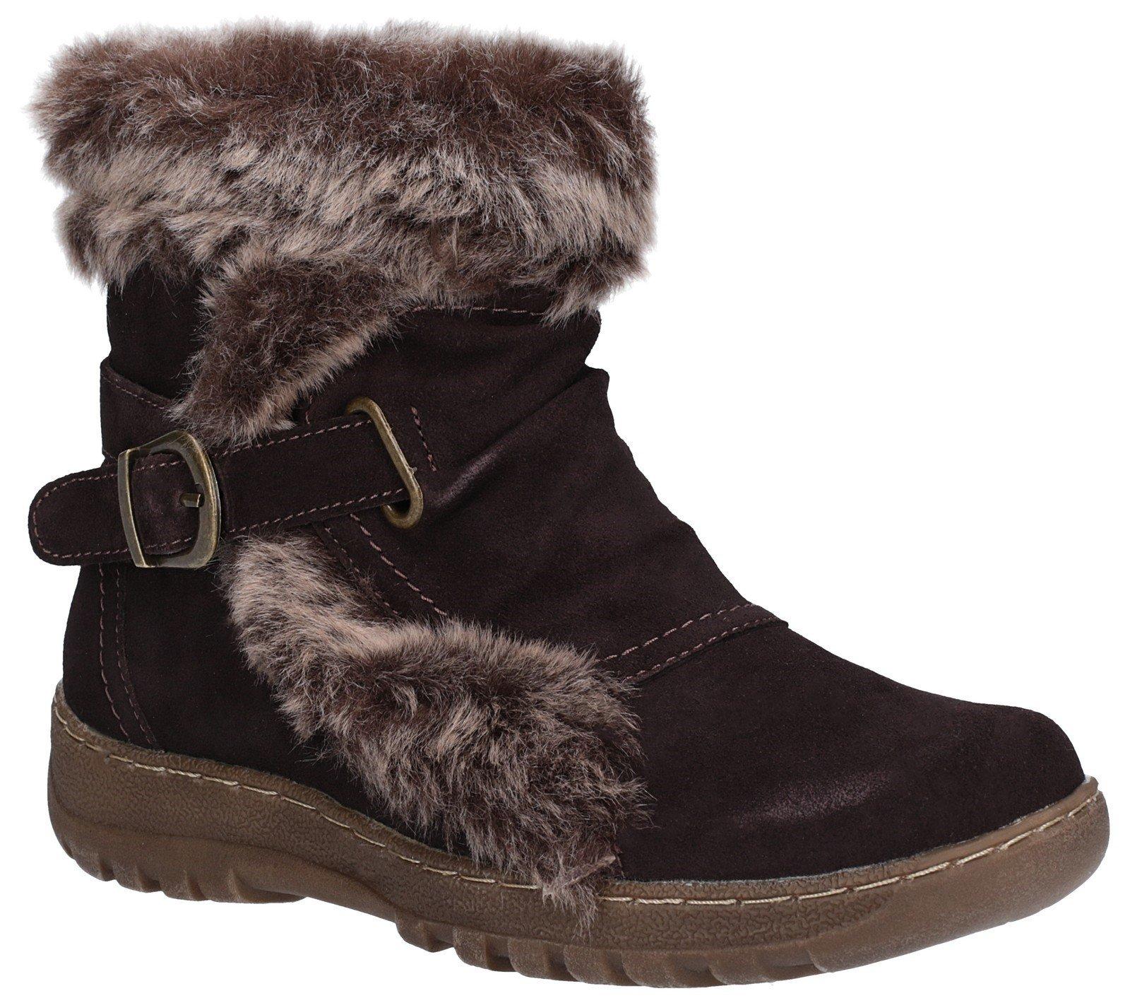 Fleet & Foster Women's Ginny Ankle Boot Brown 27143-45598 - Dark Brown 3