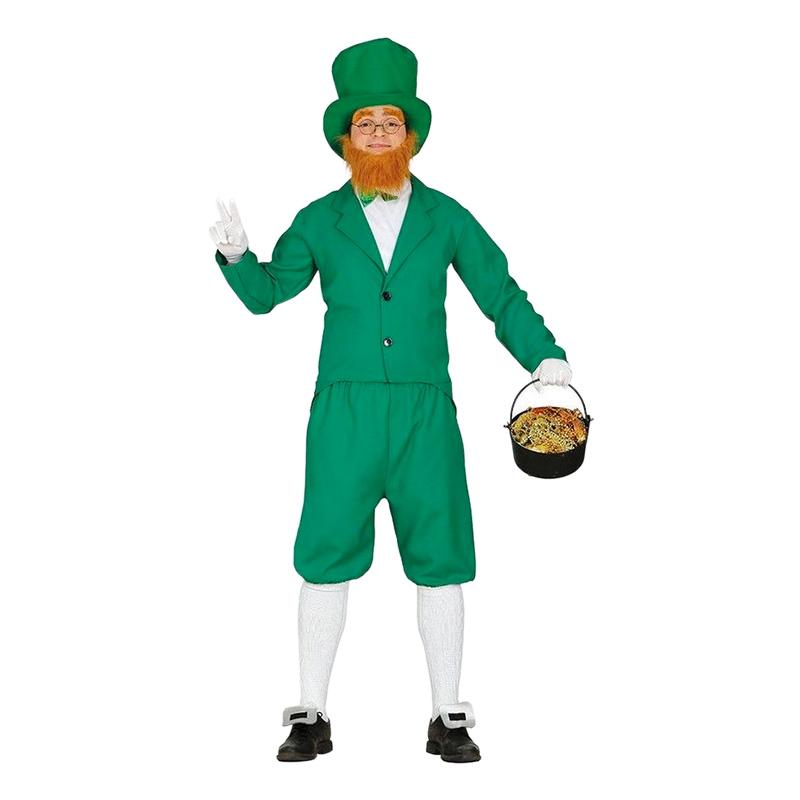 Leprechaun Grön Maskeraddräkt - Medium