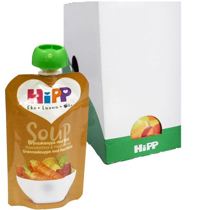 Laatikollinen Lastenruokaa Kasviskeitto ja Liha 6 x 100g - 63% alennus