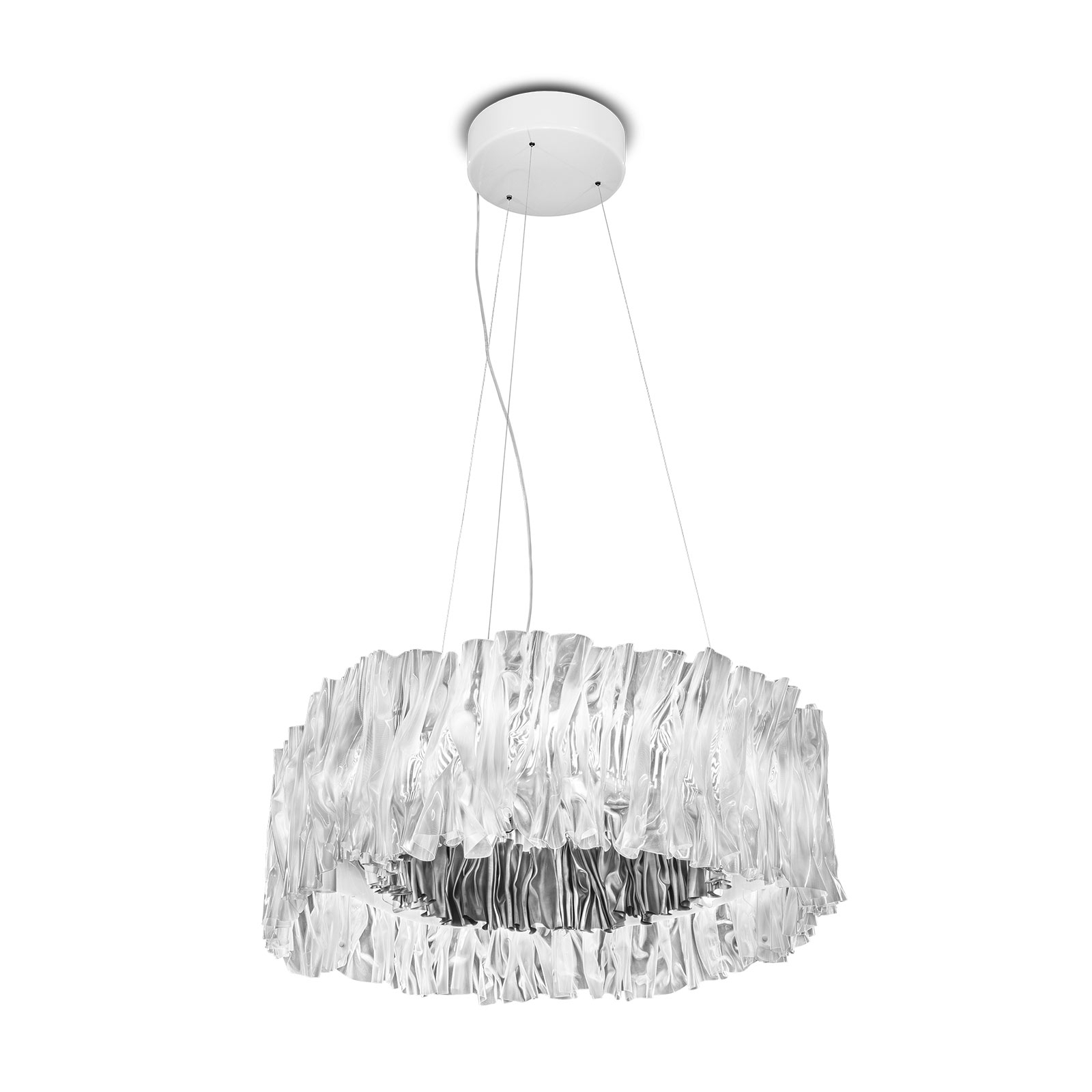 Slamp Accordéon LED-riippuvalaisin hopea, 2°700°K