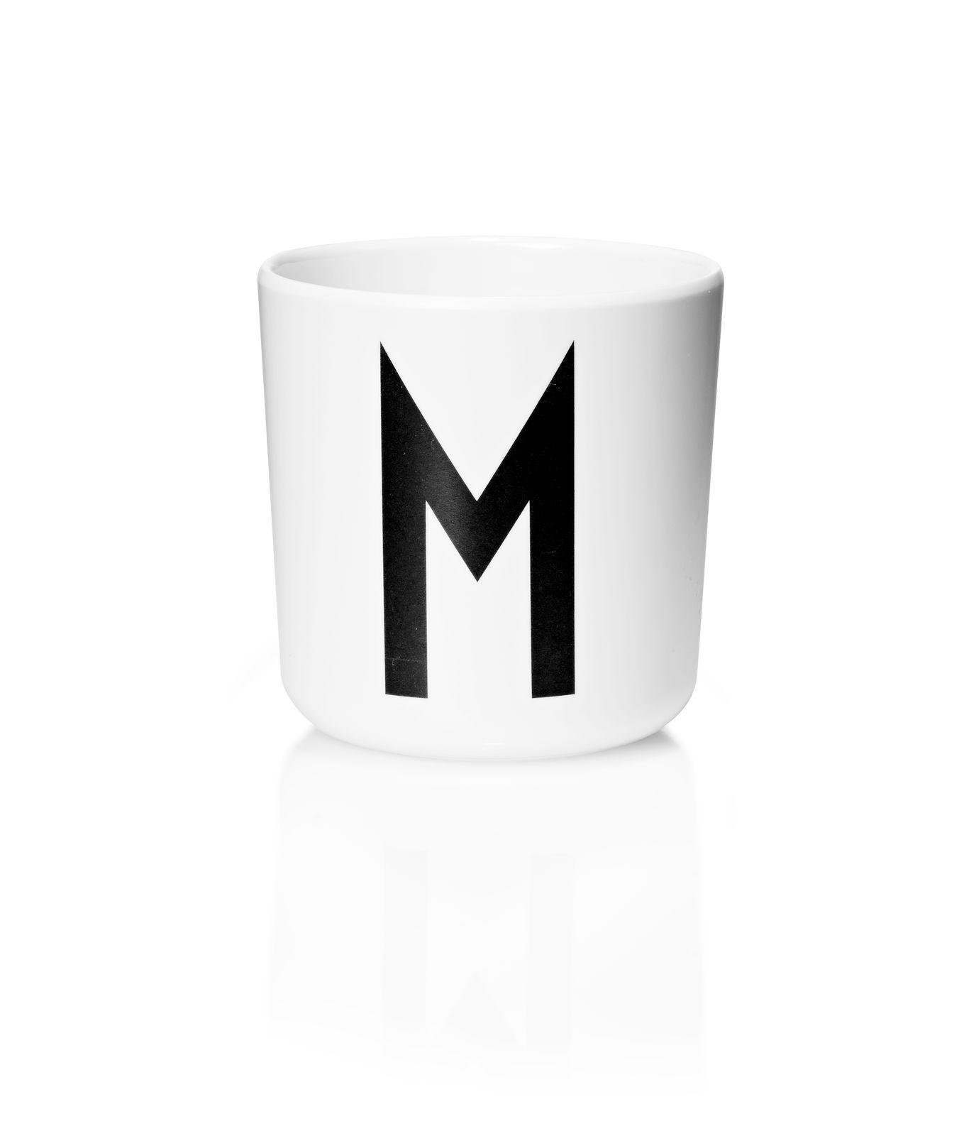 Design Letters - Personal Melamine Cup M - White (20201000M)