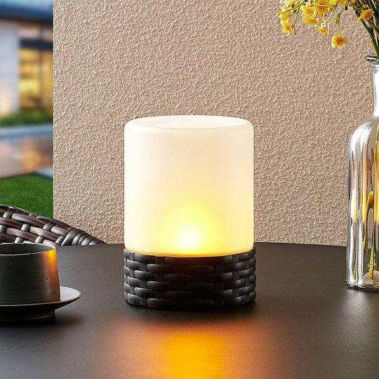 Lindby Saquir solcelle-dekolys med flammeeffekt