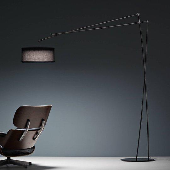 Prandina Effimera F50 gulvlampe blank svart