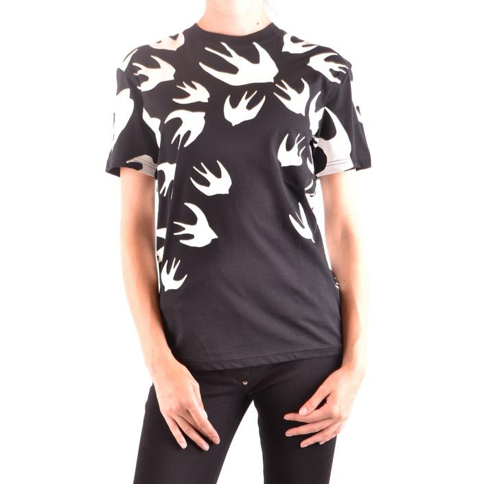 Alexander Mcqueen Women's T-Shirt Black 164375 - black XXS