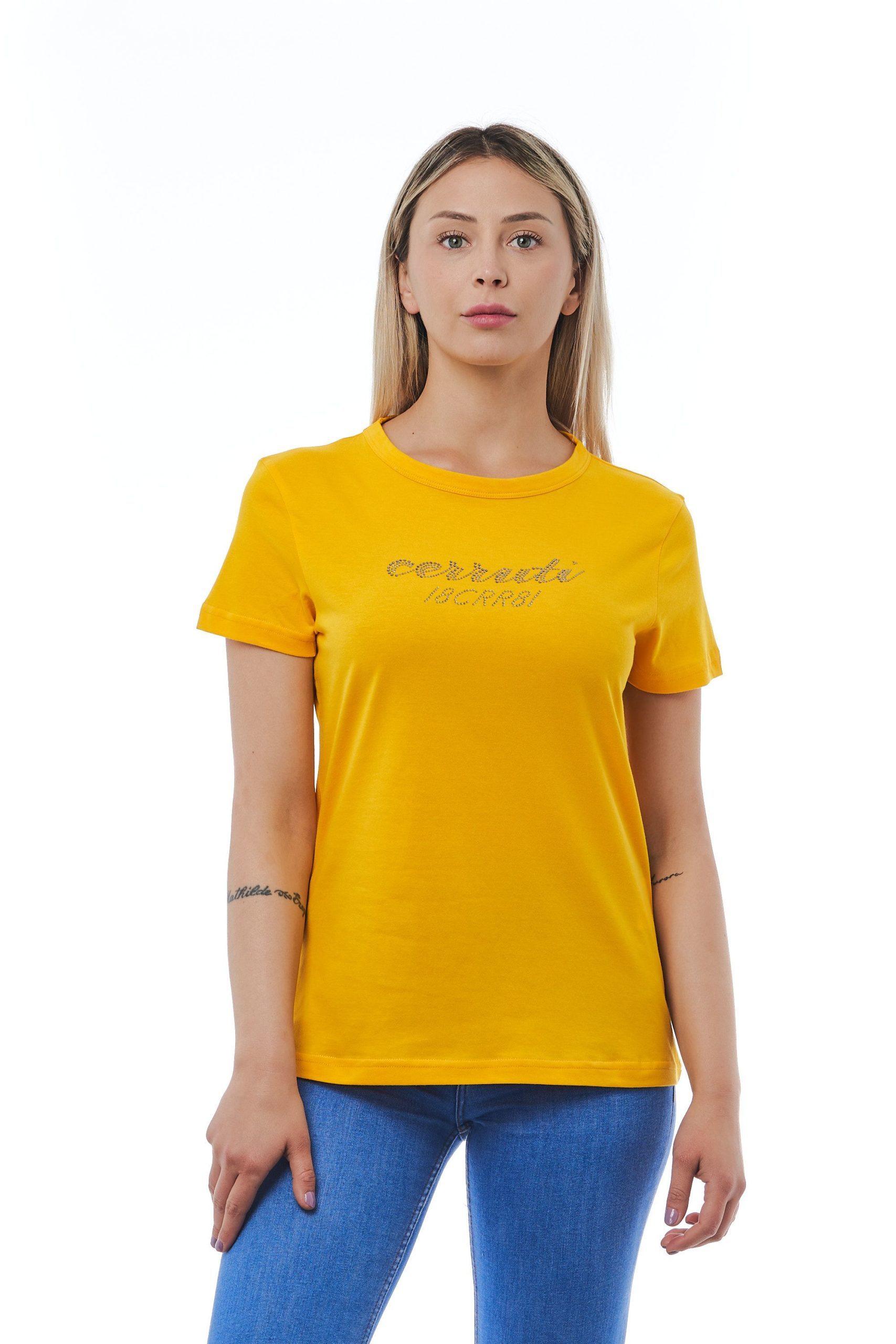 Cerruti 1881 Women's Giallo T-Shirt Yellow CE1410218 - M
