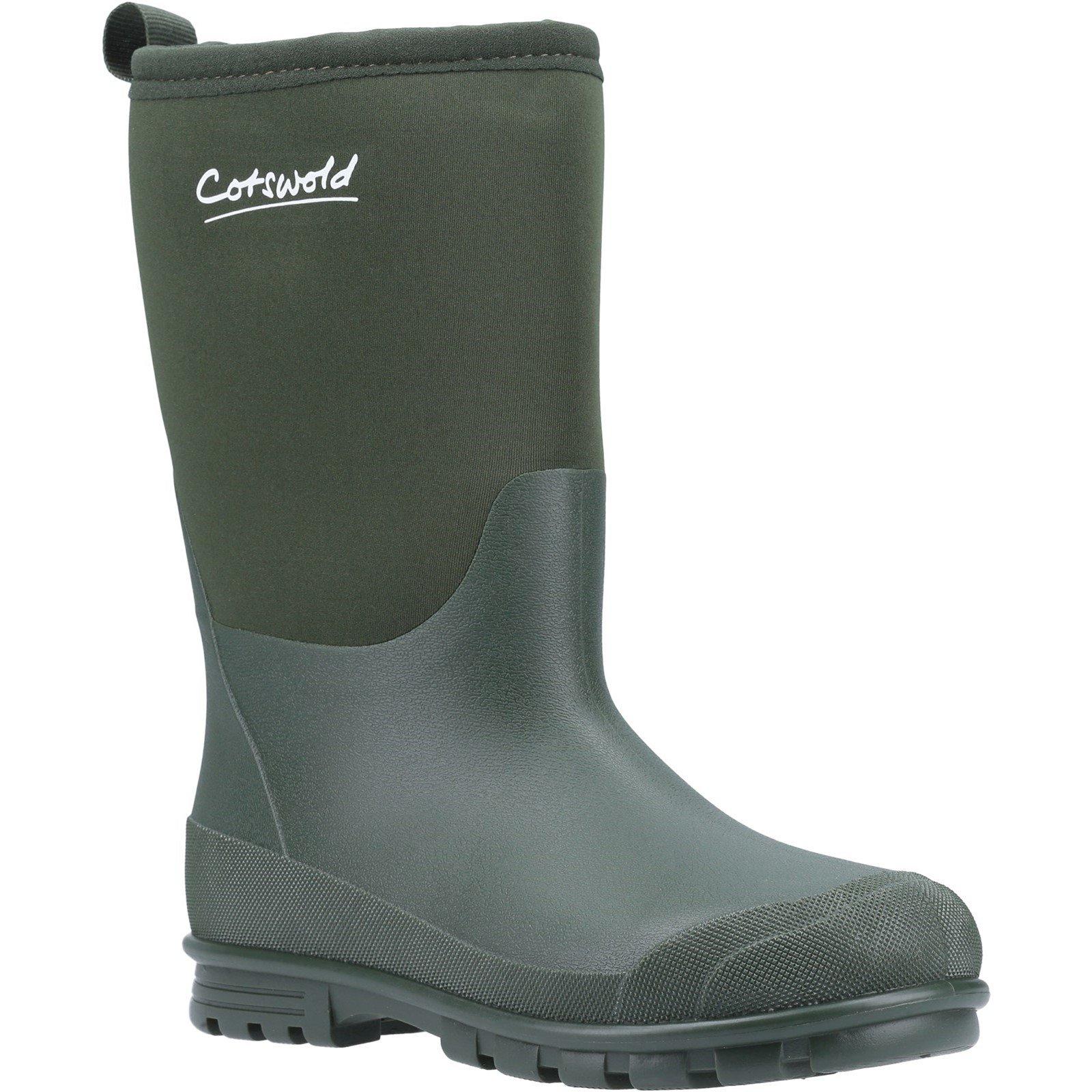 Cotswold Women's Hilly Neoprene Wellington Boot - Green 8.5