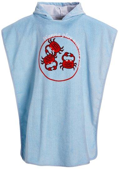 Nordbjørn Rossö Badeponcho, Blue Crab, S