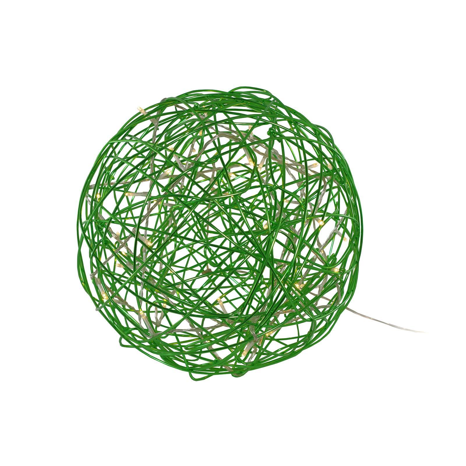 Galax Fun -LED-3D-design-pallo, Ø 30 cm, vihreä