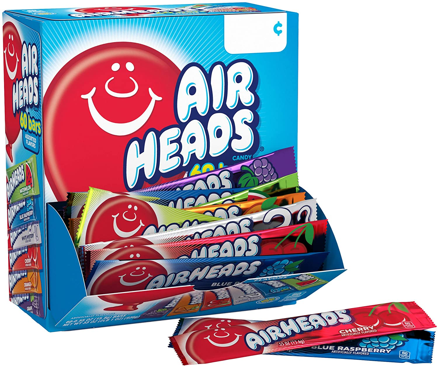 Airheads Assorted Bars 60-Pack 936g
