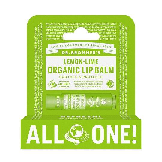 Lemon Lime Organic Lip Balm Hang Pack, 6 g Dr. Bronner's Huulirasva