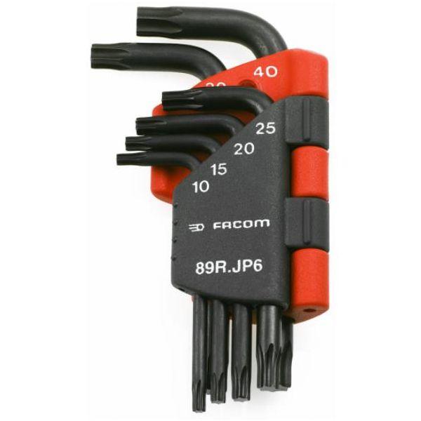 Facom 89R.JP6 Torx-avainsarja 6 kpl, T10-T40, pidikkeessä