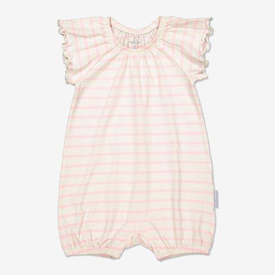 Stripet playsuit baby lysrosa