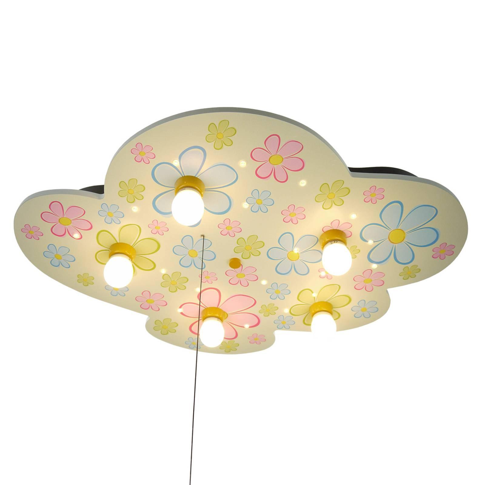 Blomsterprakt - skyformet taklampe med LED