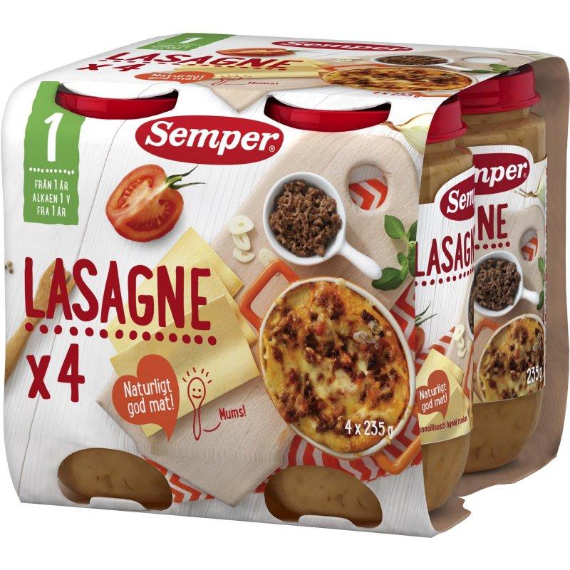 Lastenruoka, lasagne 4 x 235 g - 40% alennus